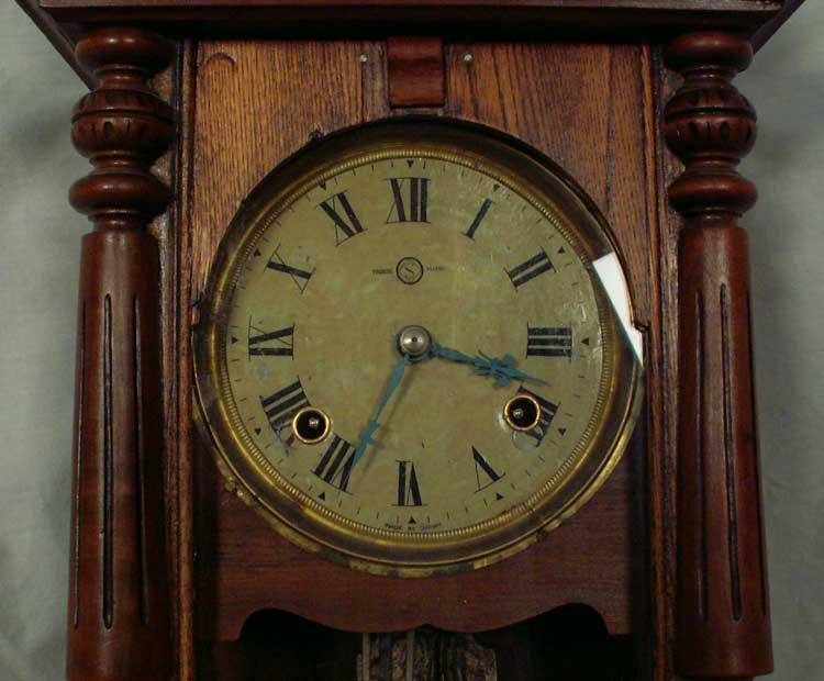 Wall Clock Seikosha Japan Pre Wwii 8 Day Refinished Case