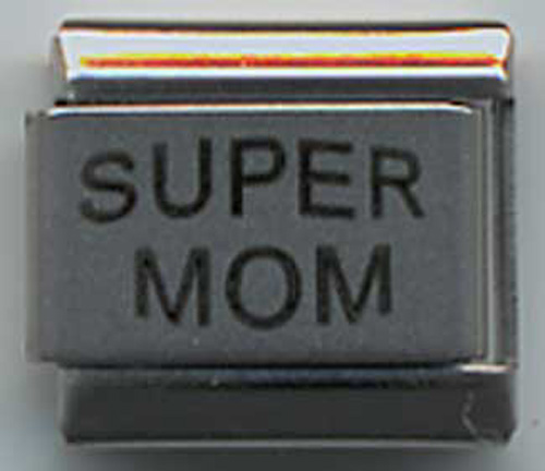 "UBERRY Laser Engraved ""SUPER MOM"""
