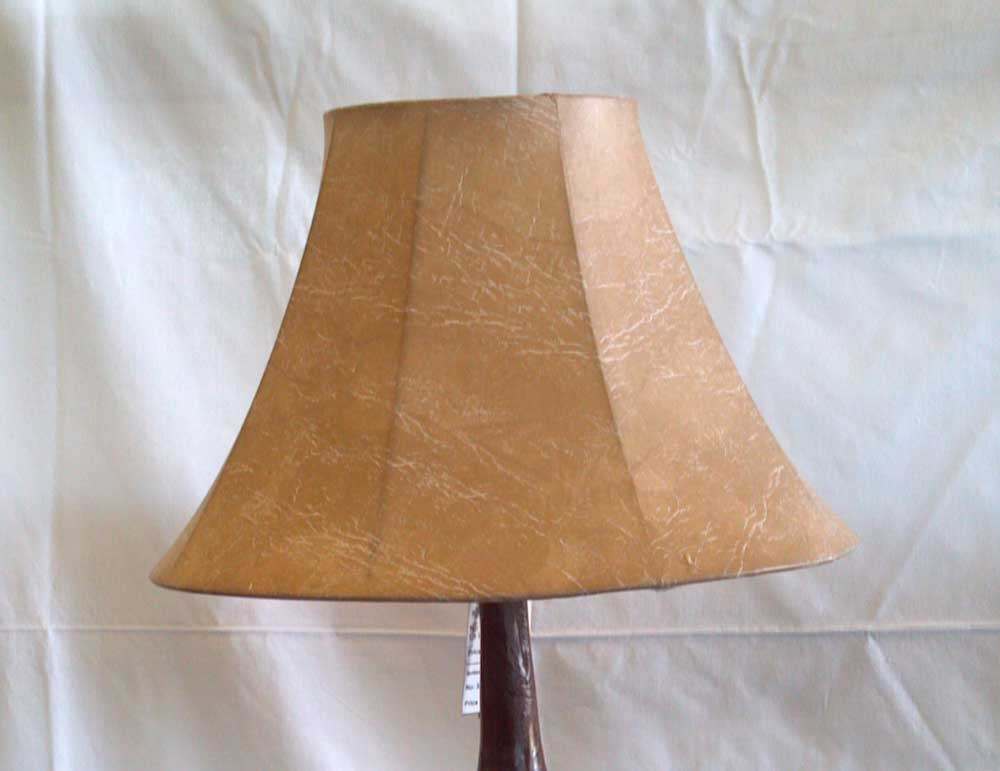 rustic faux leather lamp shade hand painted elk buck image on leather. Black Bedroom Furniture Sets. Home Design Ideas